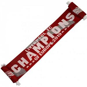 Liverpool FC Champions Of Europe Scarf RG 1