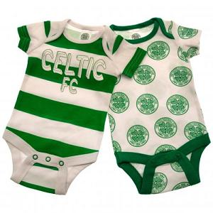 Celtic FC 2 Pack Bodysuit 6/9 mths 1