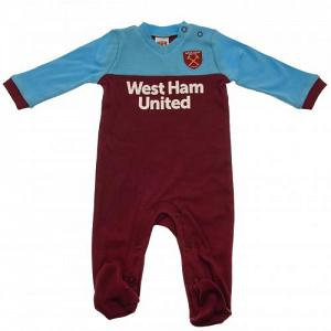 West Ham United FC Sleepsuit 3/6 mths ST 1