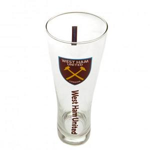 West Ham United FC Tall Beer Glass 2