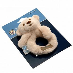 Manchester City FC Baby Rattle Hugs 1