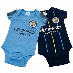 Manchester City FC Baby Bodysuits - 3/6 Months 1