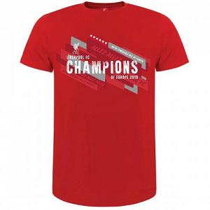 Liverpool FC Champions Of Europe T Shirt Mens S 1