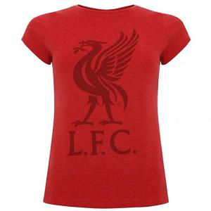 Liverpool FC Liverbird T Shirt Ladies Red 12 1