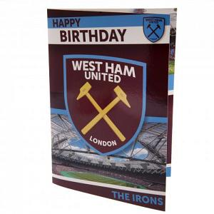West Ham United FC Musical Birthday Card 1